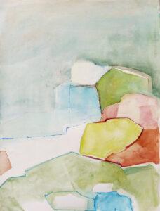Kustnära akvarell 58x74 cm
