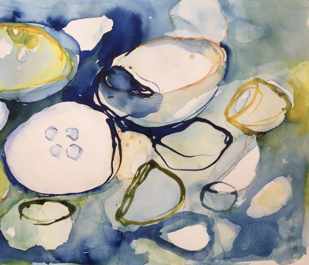 ur havet akvarell 45x30