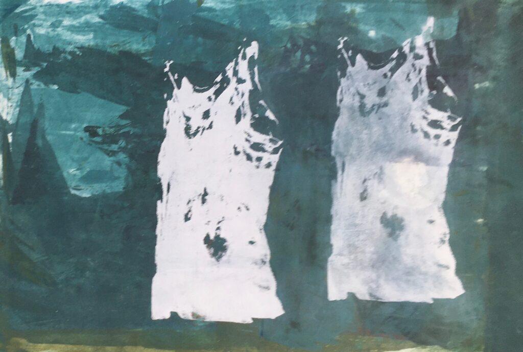 Spår av kropp III screen monoprint 70x50 cm