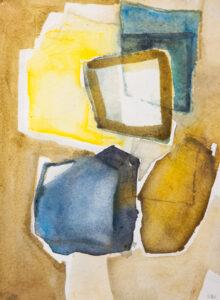 Stenbrott akvarell 30x40 cm