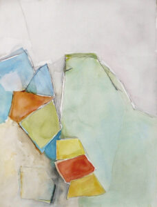 Stenbrott I akvarell 58x74cm